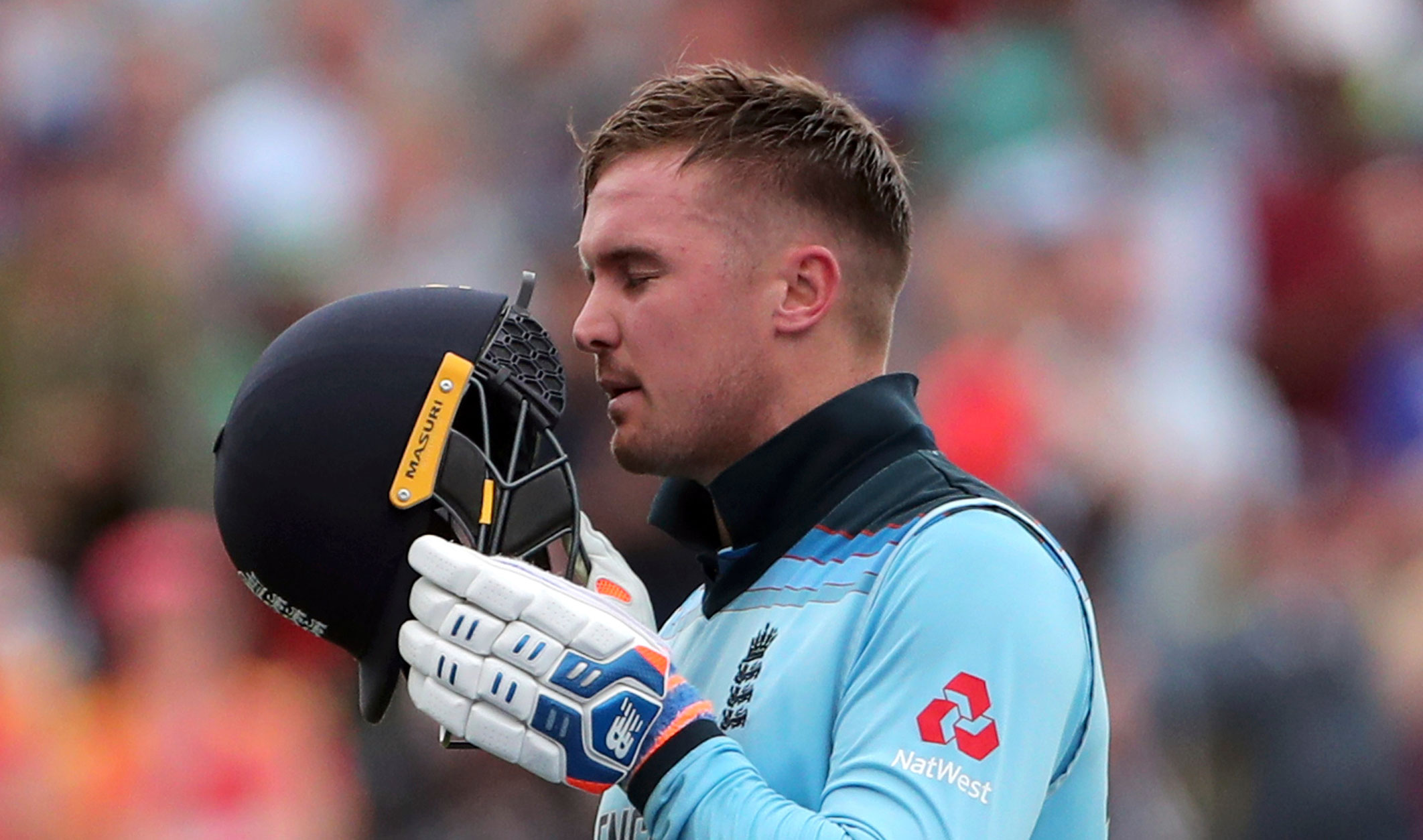 Jason Roy during the ICC Cricket World Cup semifinal match between England and Australia at Edgbaston in Birmingham, on July 11, 2019.