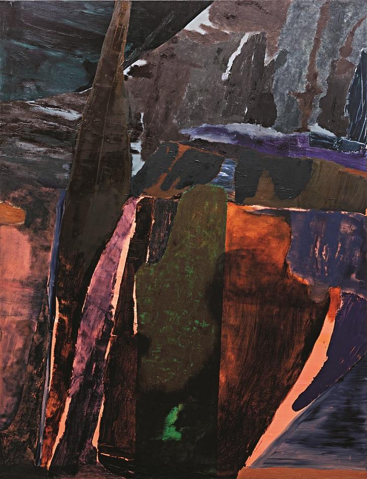 Sirens, and oil painting by Biraaj Dodiya.