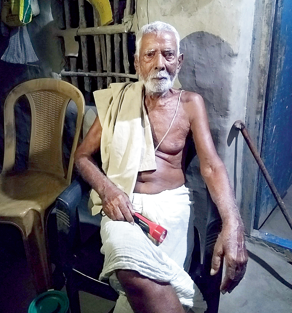 There were hundreds of human corpses floating around along with carcasses of cattle, recalls Bijoykrishna Tripathi, 108