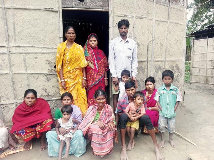 Family members of Falu Das in Nalbari