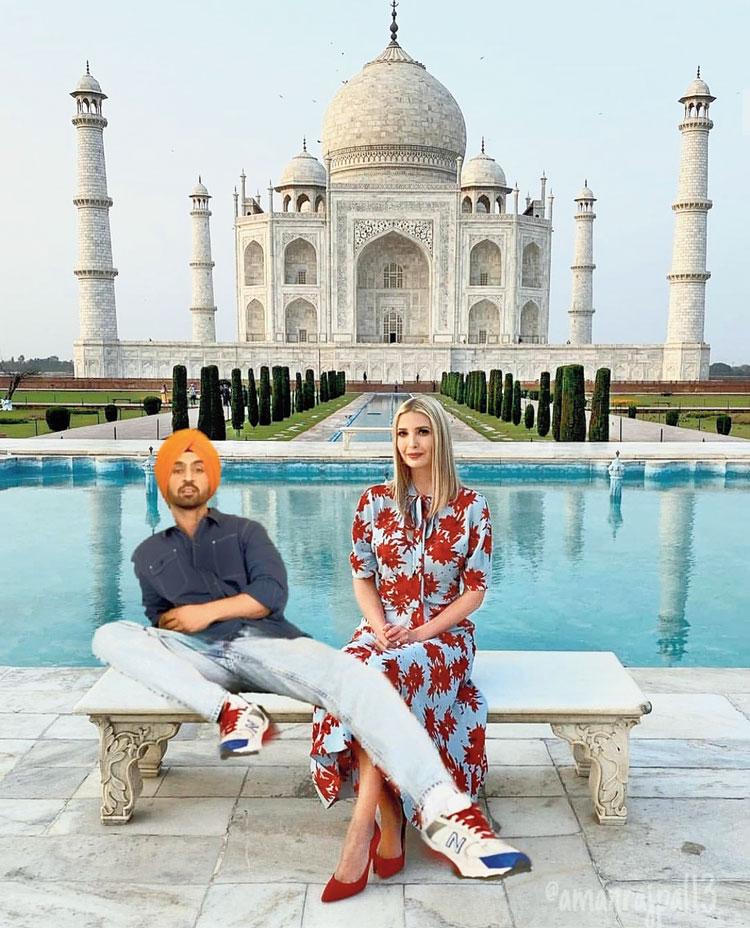 Diljit Dosanjh and Ivanka Trump
