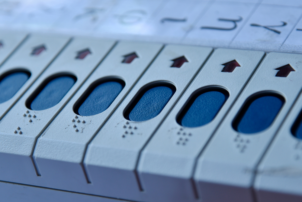 An electronic voting machine (EVM). 'Name-order effects'— the relationship between the position of a candidate's name on the ballot and his/her electoral success — has been well-established in political science literature