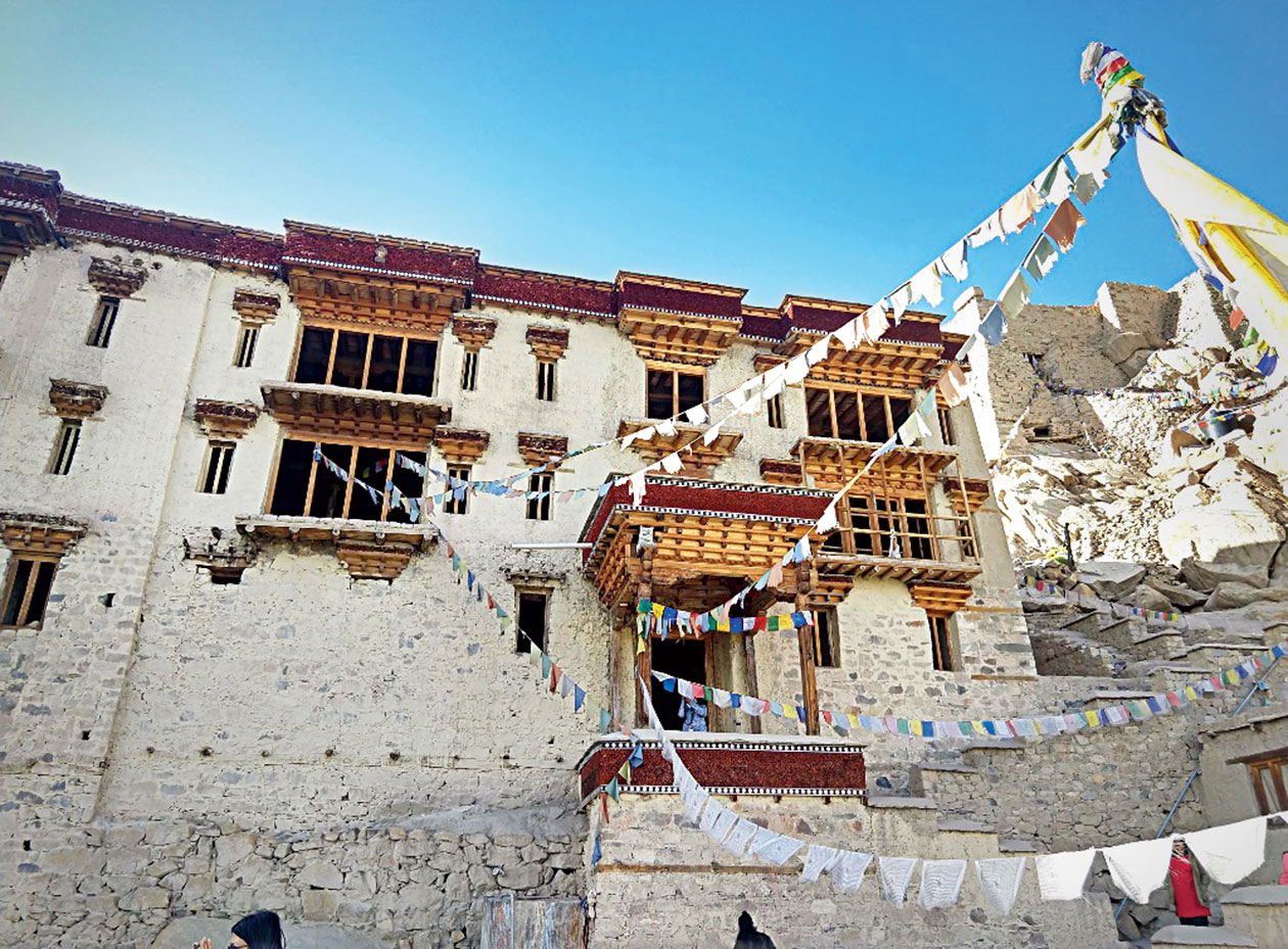 Shey Palace was home to the royals of Ladakh