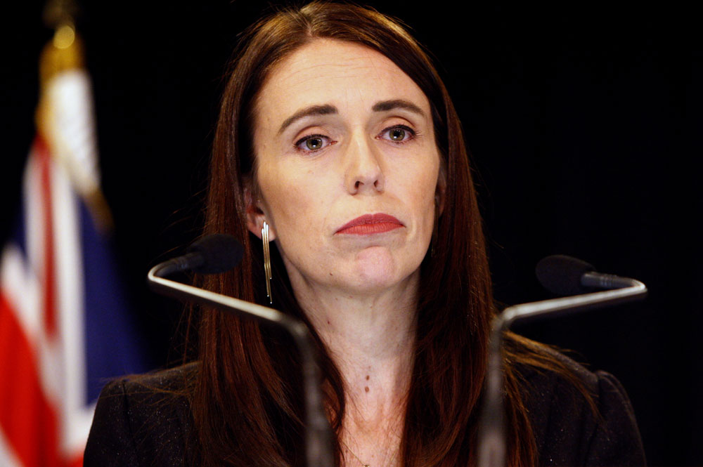 New Zealand Prime Minister Jacinda Ardern addresses a press conference in Wellington, New Zealand Monday, March 25, 2019