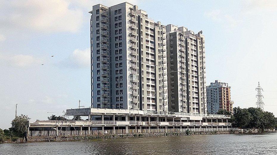 One of the apartment complexes awaiting demolition in Maradu, Kochi