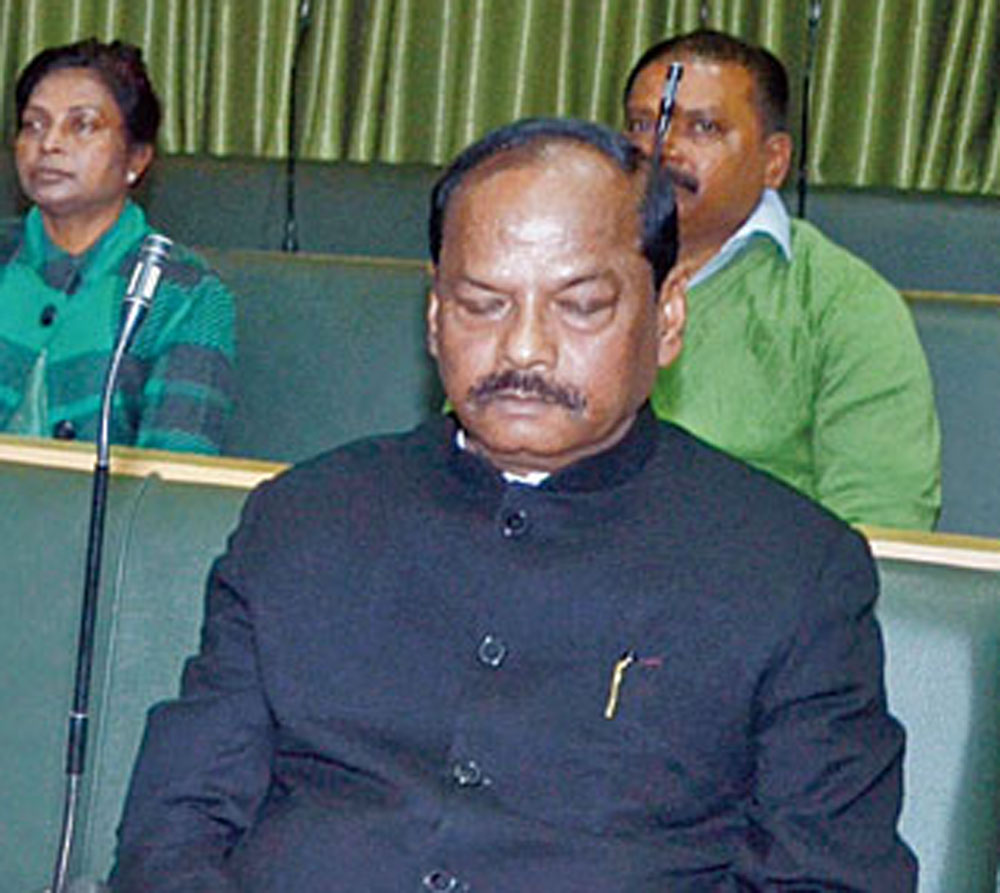 Chief minister Raghubar Das attends the budget session of the Assembly in Ranchi on Wednesday