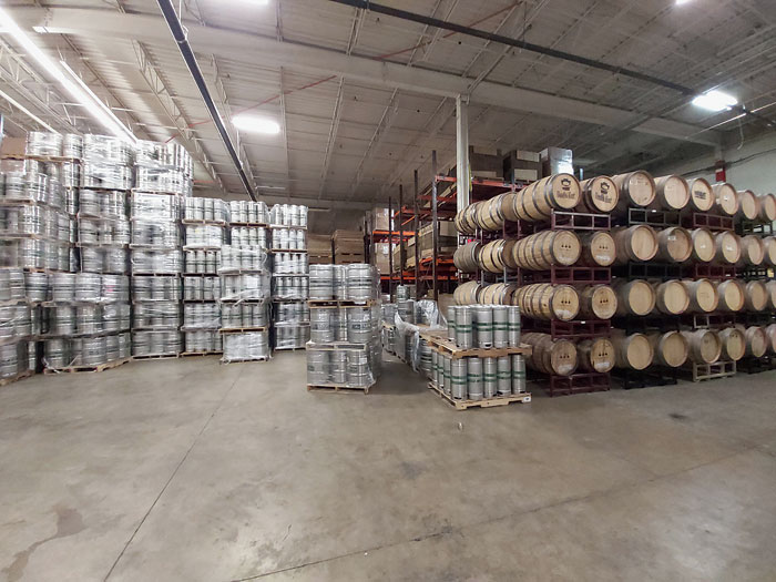 Kegs and barrels are in plenty at Yards Brewing Company