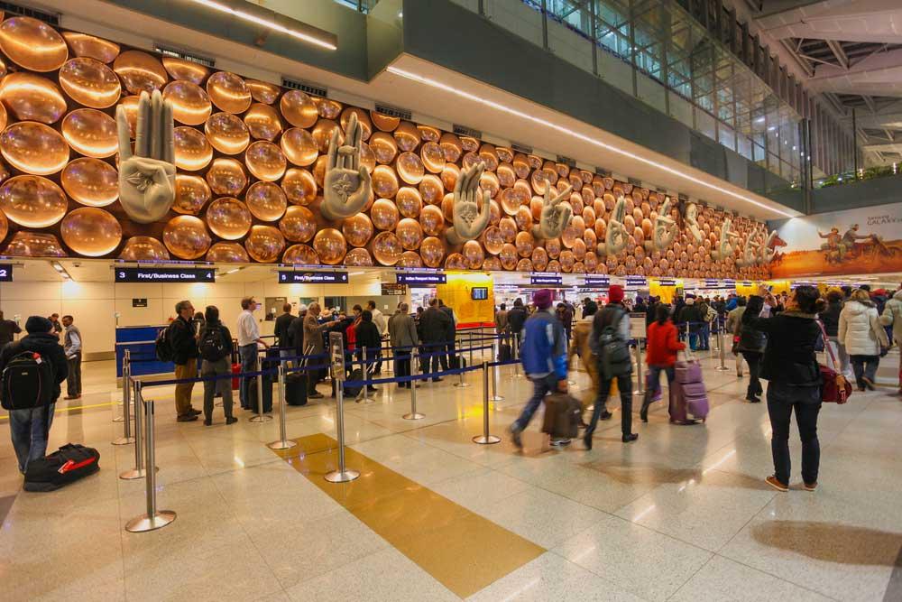 Indira Gandhi International Airport in New Delhi.