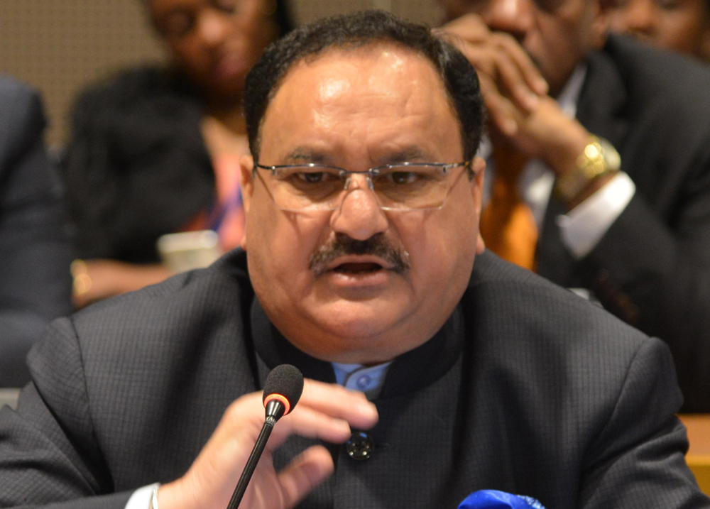 Prime Minister Narendra Modi is scheduled to felicitate newly-appointed BJP chief J.P. Nadda at the party office and both leaders will later hold a meeting with chief ministers and deputy chief ministers of the states ruled by the party.