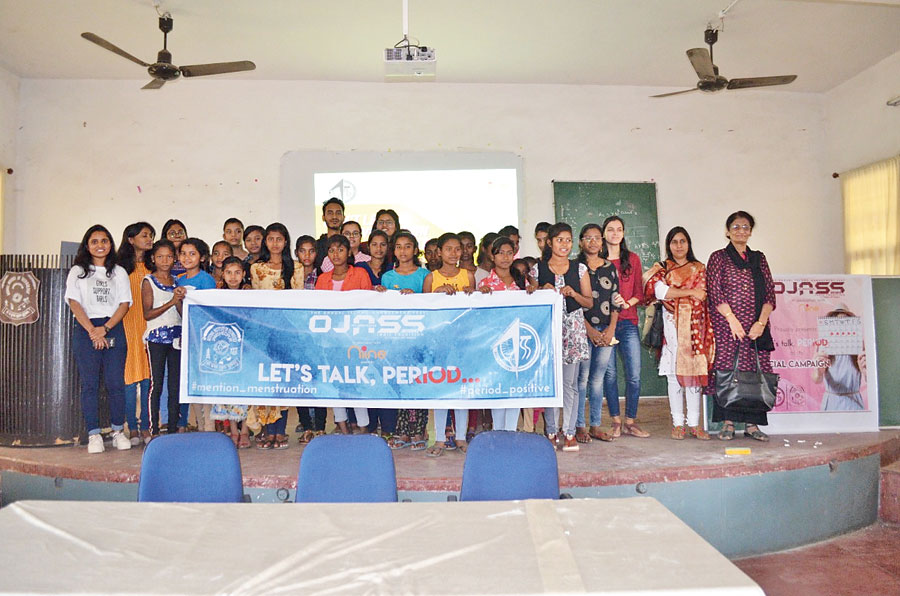 NIT-Jamshedpur students on campus with the girls on their first session on Saturday.