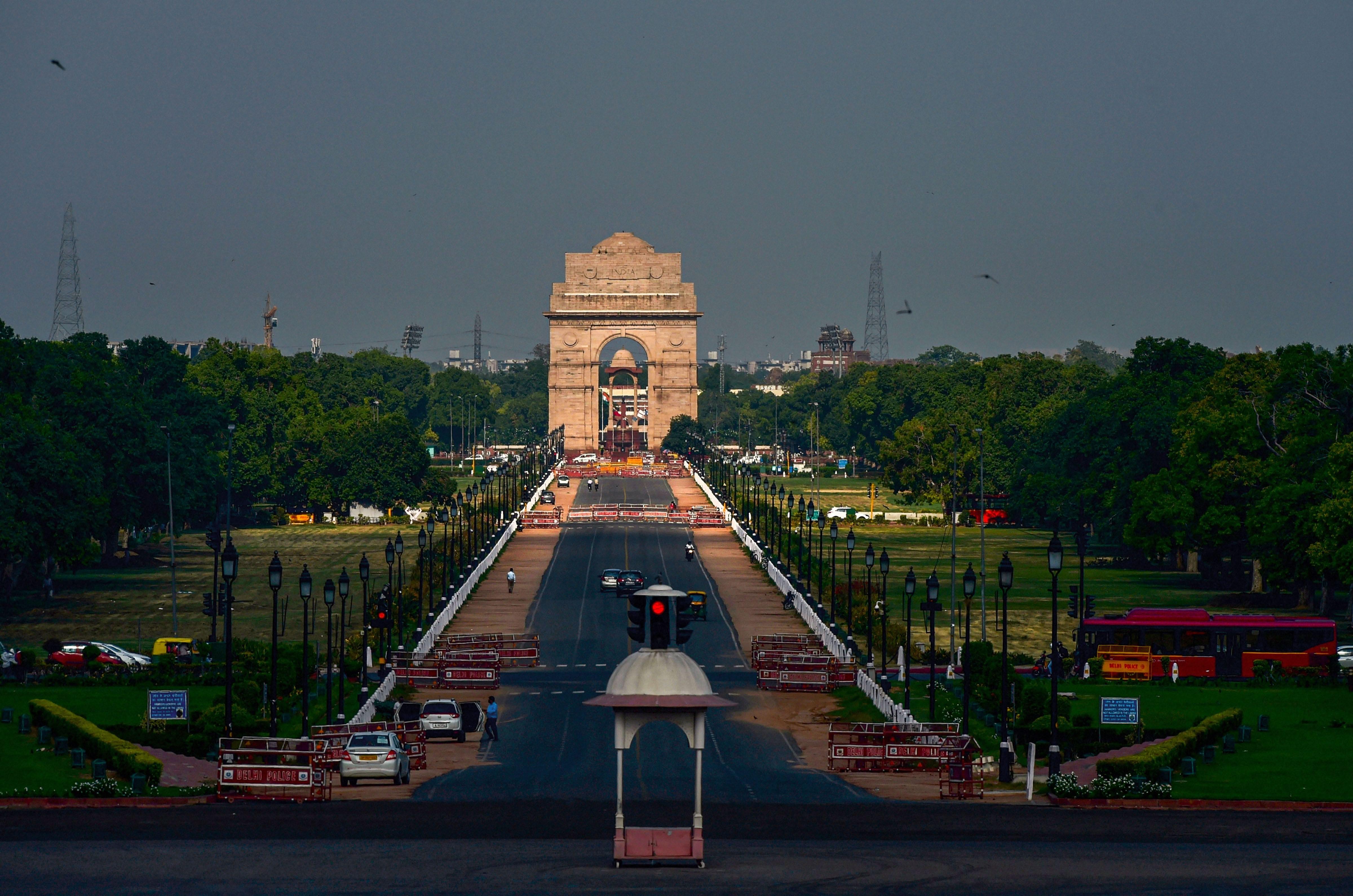 New Delhi: Clouds hover over the sky, at Raisina Hills in New Delhi, Tuesday, June 23, 2020