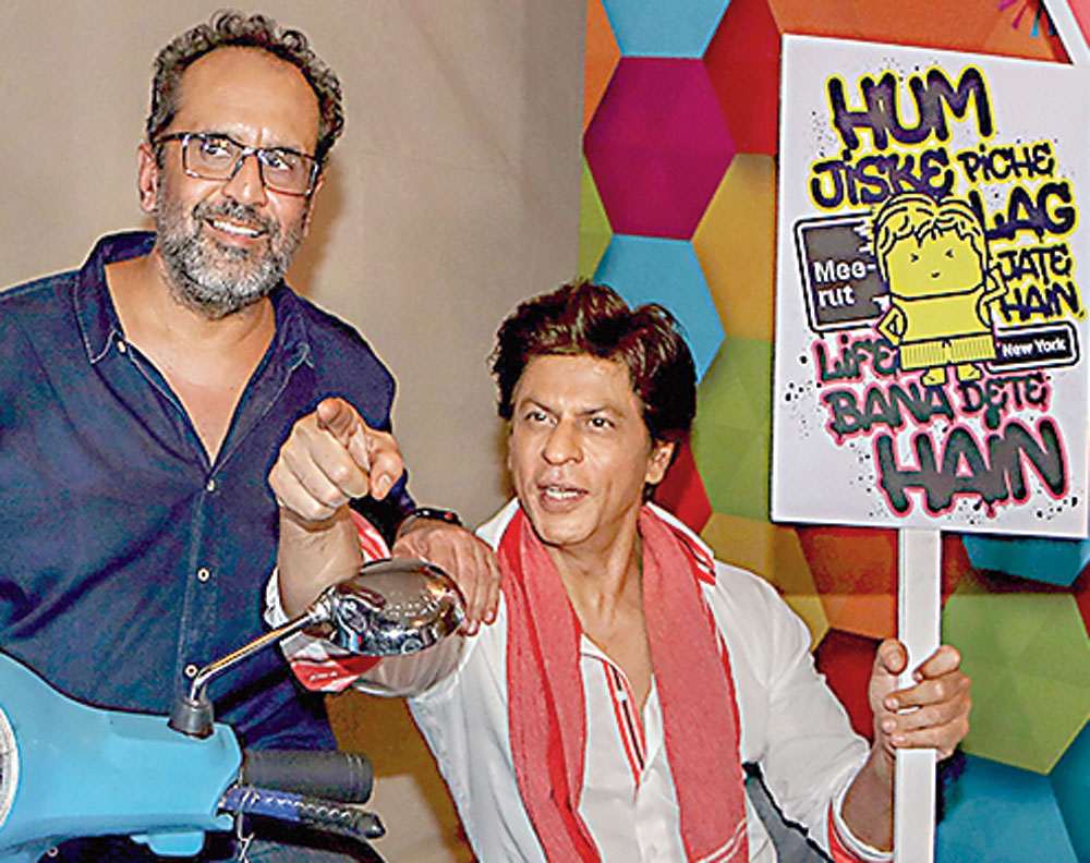 SRK with Zero director Aanand L. Rai.