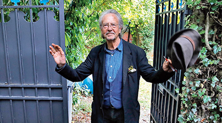 Peter Handke at his house in Chaville near Paris on October 10, 2019. For decades Handke has been immensely prolific — novels, plays, poetry, travelogues, essays, diaries, even film scripts… there is not a genre in which he did he not excel! Yet, his readership diminished and changed.
