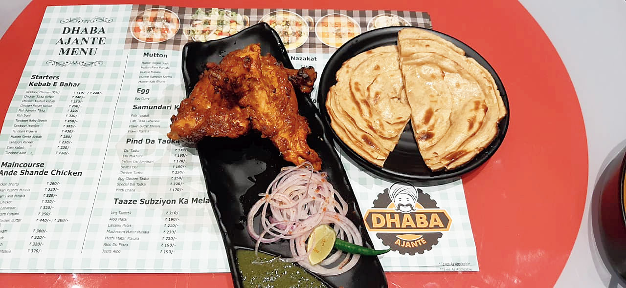 Tandori Chicken and Lachcha Paratha on the menu