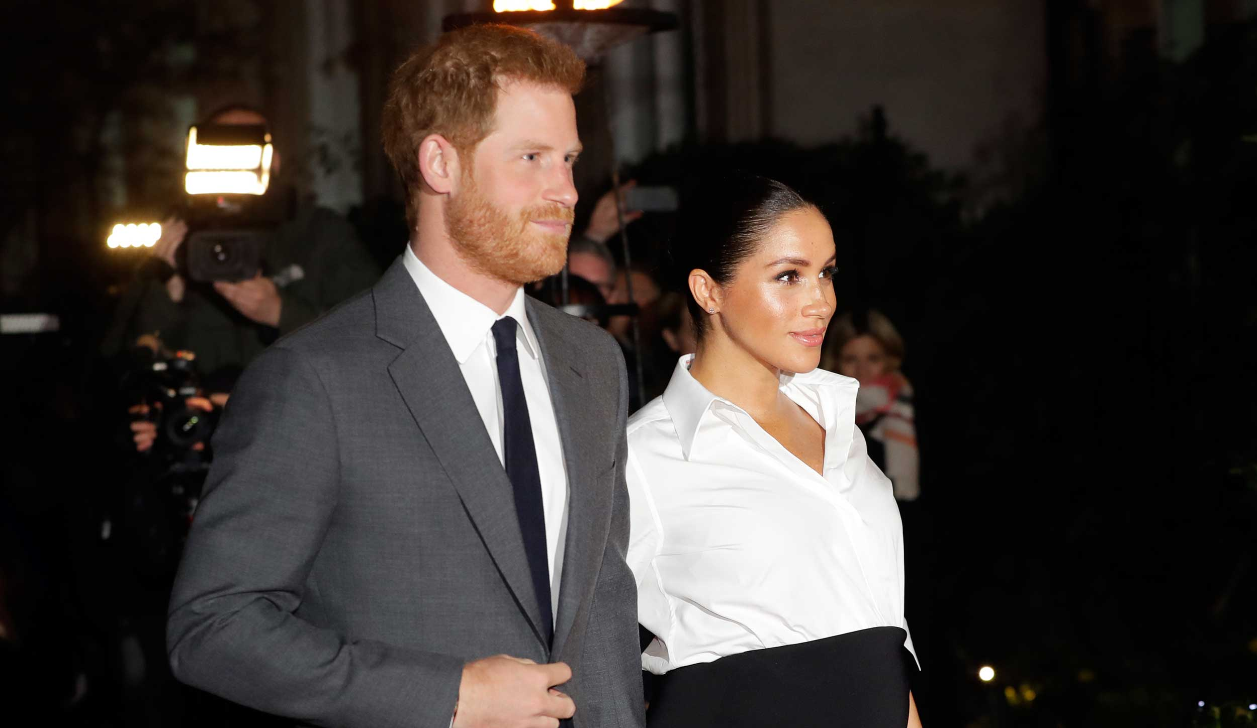 Prince Harry and Meghan arrive at the annual Endeavour Fund Awards in London, on February 7, 2019.