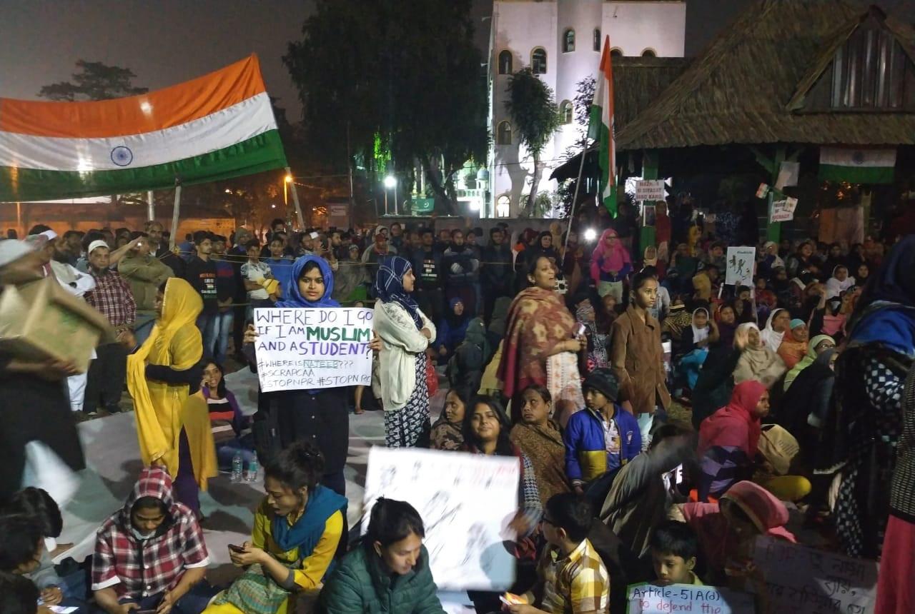 The continuing women-led anti-CAA protest at Park Circus Maidan, Kolkata.