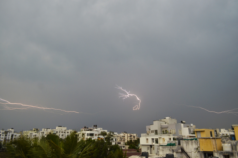 Heavy thunder and lightning struck Chainpur around 2pm on Monday and the weather department had sent an alert.