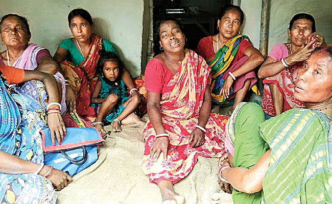 Families of the victims at Baghar village in Bihar's Katihar district.