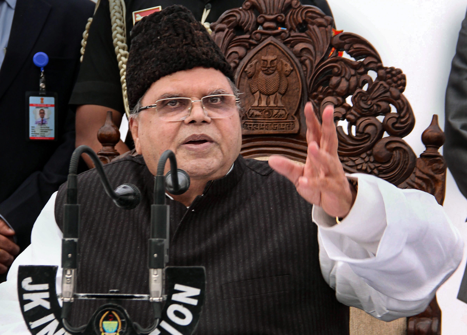 Jammu & Kashmir governor Satya Pal Malik dissolved the state Assembly, which has been in suspended animation, shortly after rival alliances staked claim to form the government today.