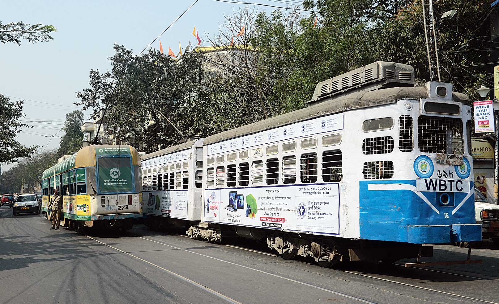 Trams at the Hazra crossing
