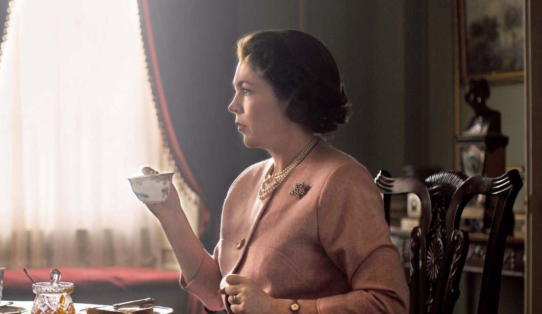 Olivia Colman as the Queen in the third season of The Crown premiering on Netflix on Sunday