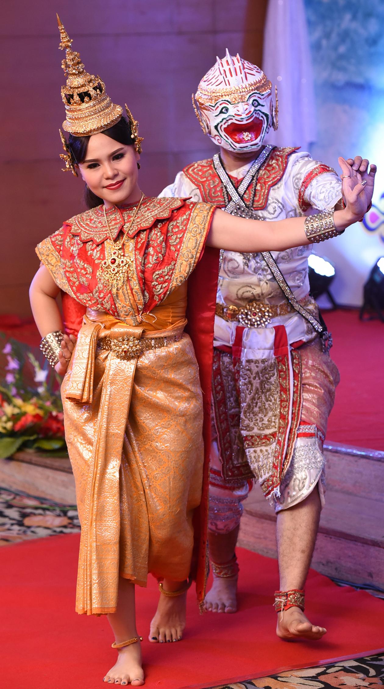 A Thai dance representation of the Ramayana