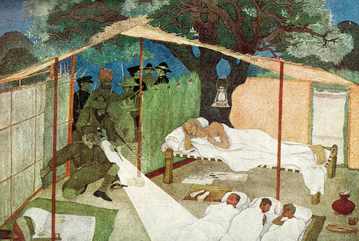 The Midnight Arrest, a painting by Vinayak S. Masoji