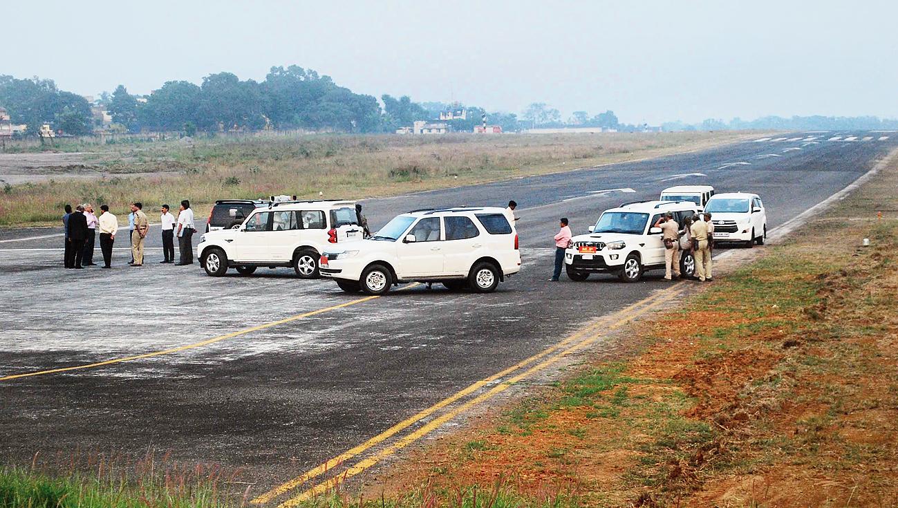 Sonari airstrip in Jamshedpur on Friday.