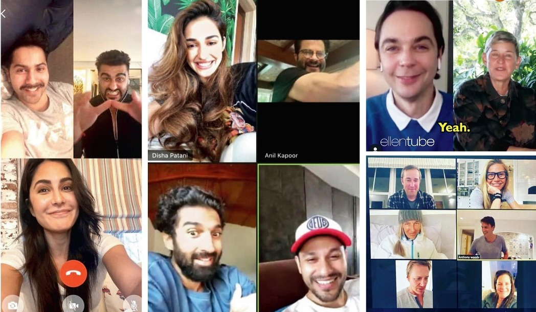 Celebs like Katrina Kaif, Varun Dhawan, Arjun Kapoor, Disha Patani, Anil Kapoor, Kunal Kemmu, Aditya Roy Kapur to Gwyneth Paltrow, Ellen DeGeneres and Jim Parsons have also been indulging in fun sessions of video calling with friends and family!