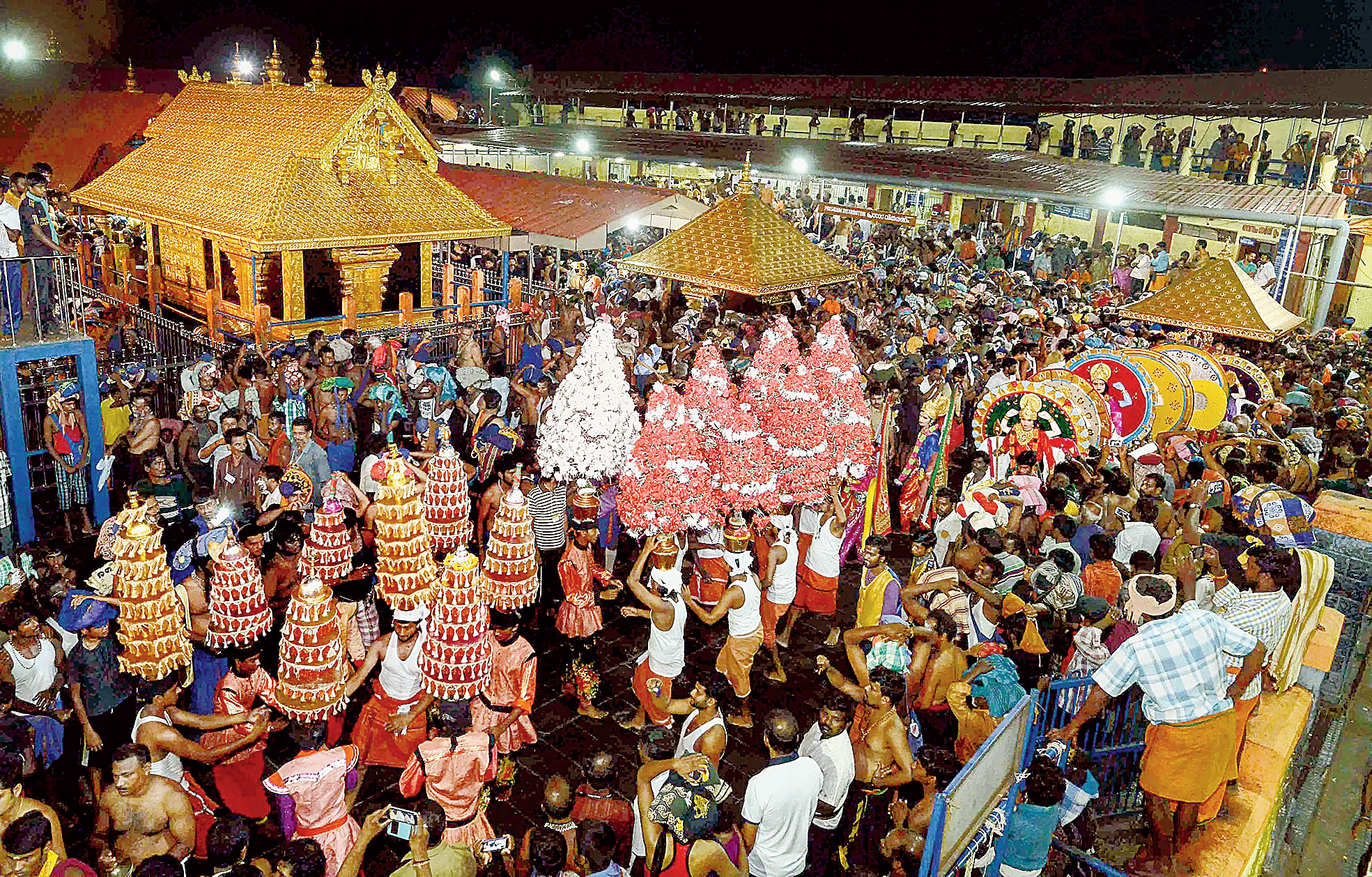 A file picture of the Sabarimala temple.