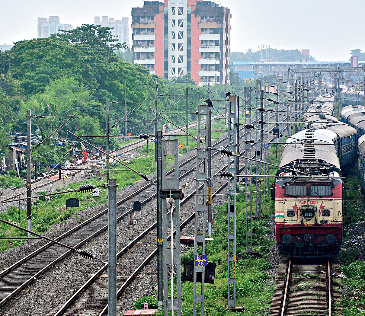 Railway tracks are often used for open-defecation.