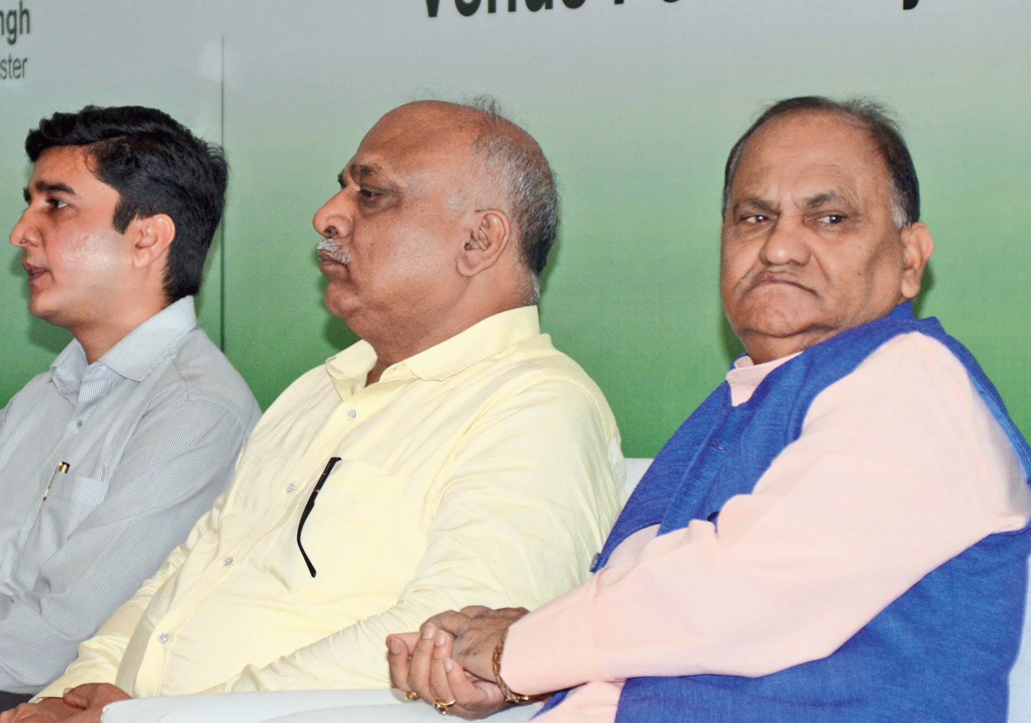Urban development minister CP Singh (right) at the infrastructure summit in Ranchi on Monday.