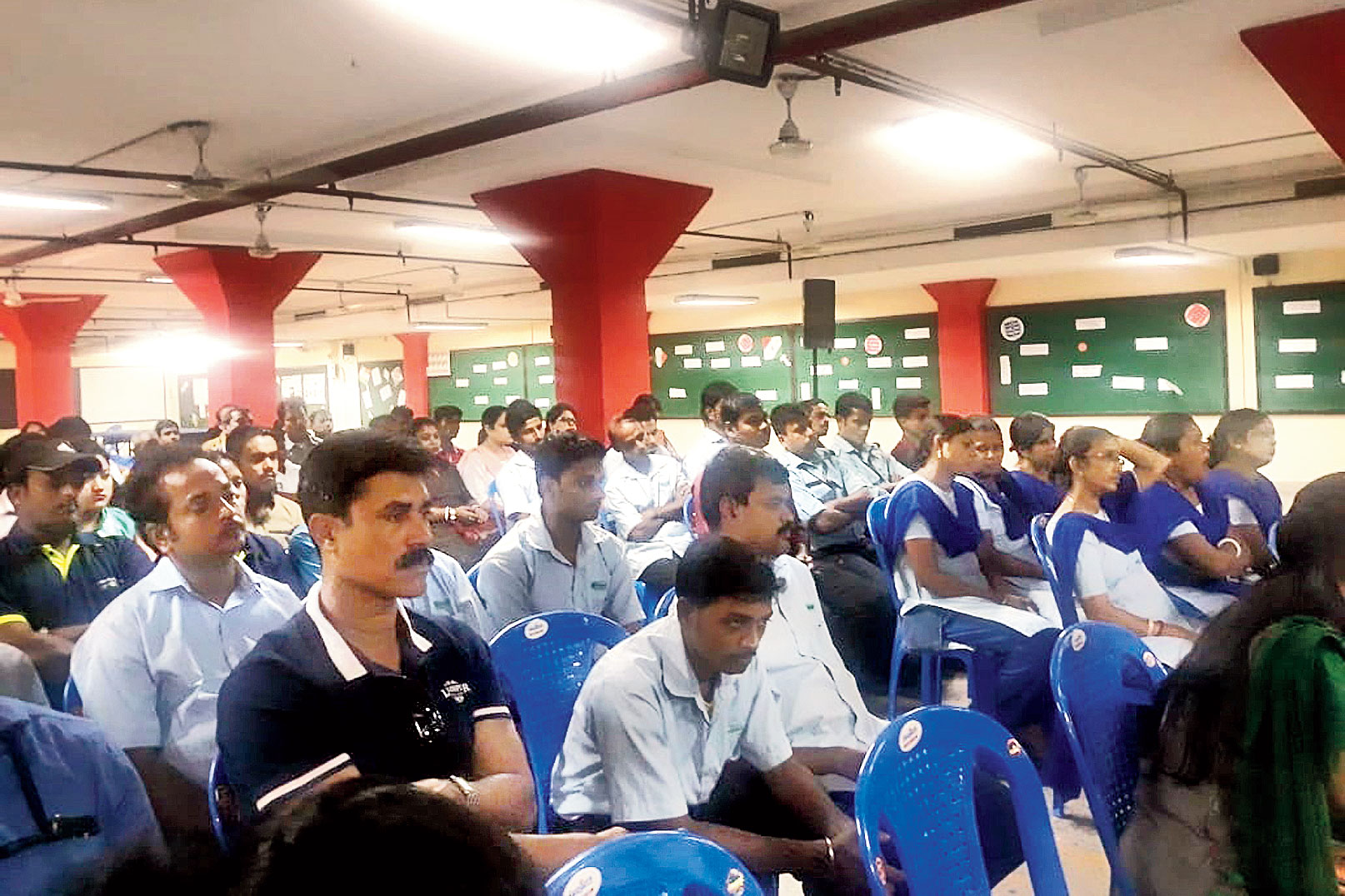 Non-teaching staff of the Apeejay schools attend the workshop on Saturday