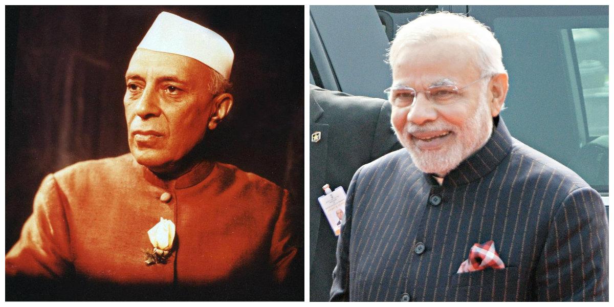 Modi's nose in Nehru's rose