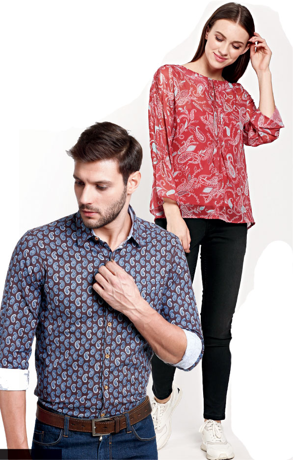 Paisleys are a dominant motif in the Wills Lifestyle Kashmir collection for both men and women