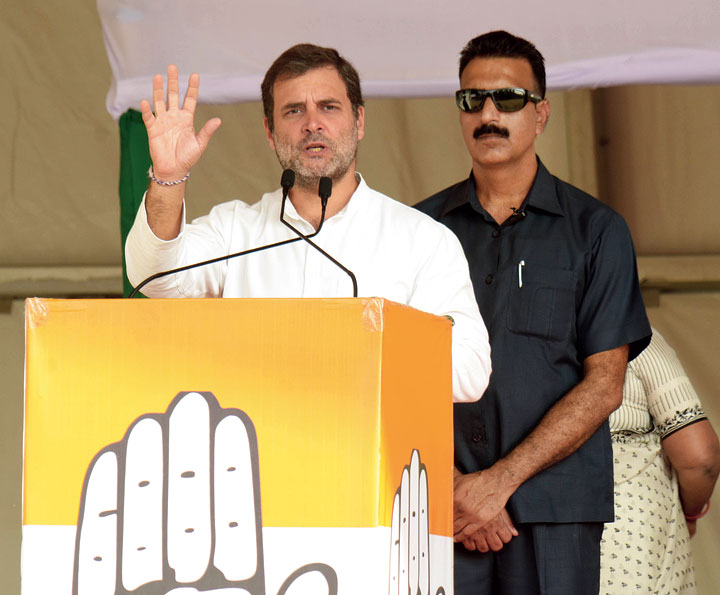 Congress leader Rahul Gandhi also promised to the farmers a minimum support price (MSP) of Rs 2,500 for paddy.