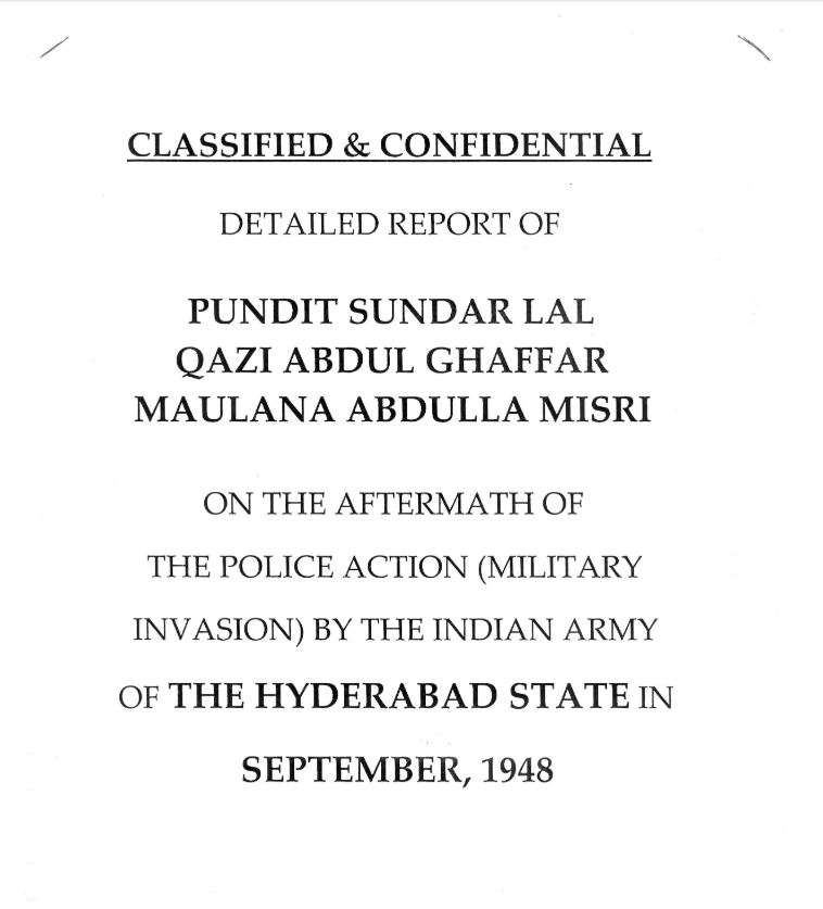 The Sunderlal Commitee Report.