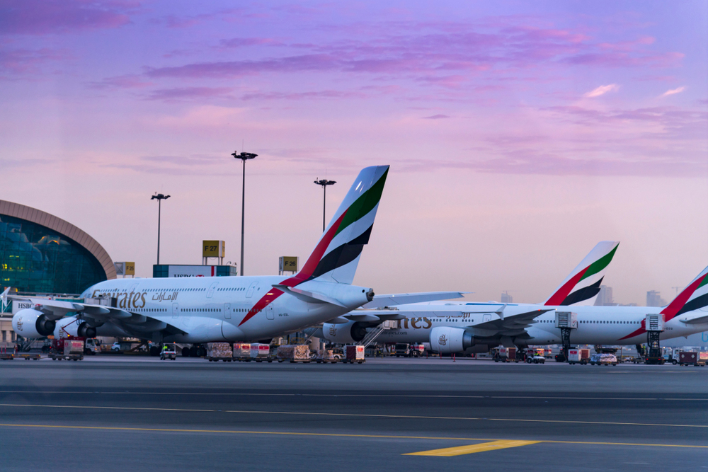 An Emirates Airline plane in Dubai. Pakistan's decision on Tuesday will reduce travel time on flights from India to the Gulf, the US, Europe and central Asian countries and make air tickets cheaper