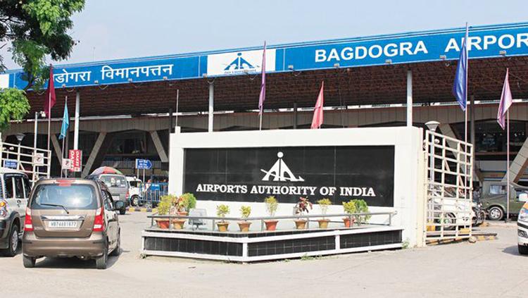 The Bagdogra airport