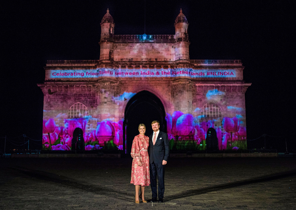 King Willem-Alexander and Queen Máxima at Gateway of India in Mumbai on Wednesday