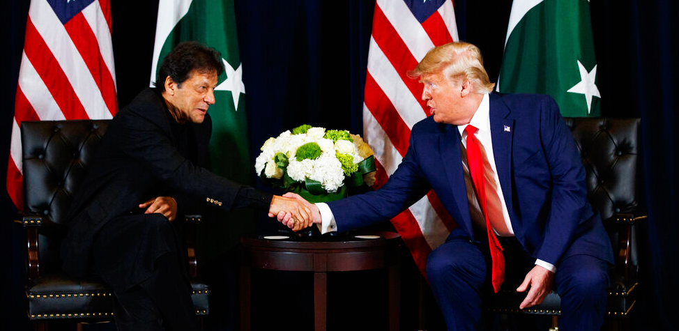 President Donald Trump meets with Pakistani Prime Minister Imran Khan in New York on Monday, September 23, 2019.