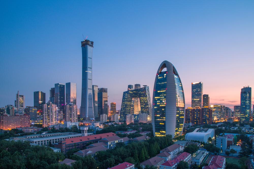 The Beijing skyline.