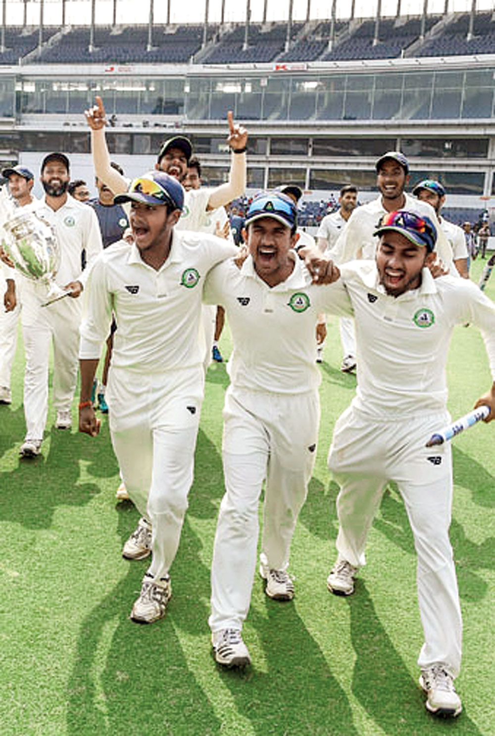 A force to reckon with: Defendng champions Vidarbha won the 85th Ranji Trophy title, beating Saurashtra by 78 runs in the summit clash