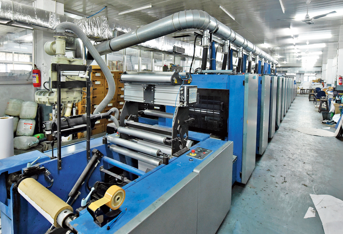 The printing machine that was imported from Spain and installed at the Howrah press in 2014.