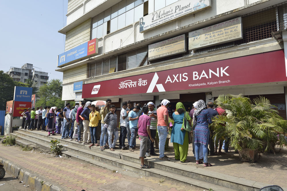 The sudden announcement that about 87 per cent of currency would be withdrawn from circulation spread panic, sending thousands of residents to banks to exchange notes.