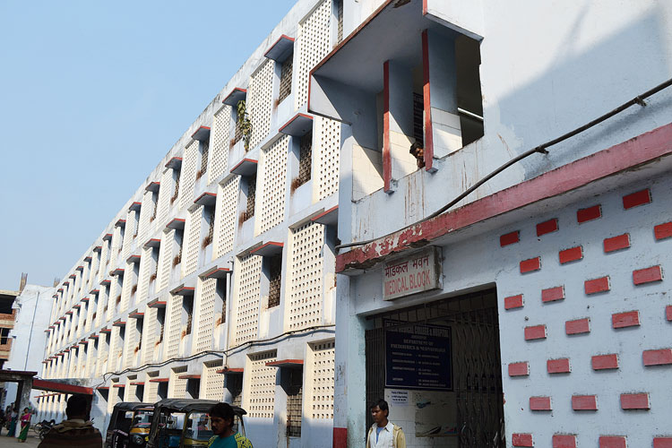 The medical block of the MGM Medical College & Hospital in Sakchi, Jamshedpur, on Saturday.