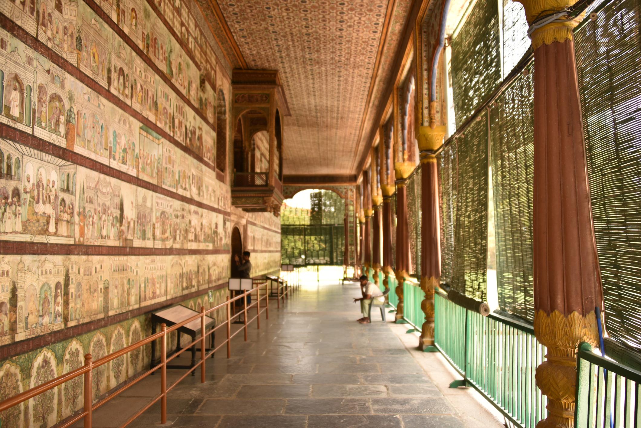 Tipu Sultan's summer palace, Daria Daulat Bagh, in Srirangapatna, Karnataka