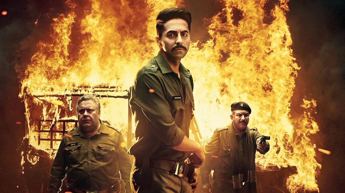 Ayushmann Khurrana (middle) in 'Article 15'