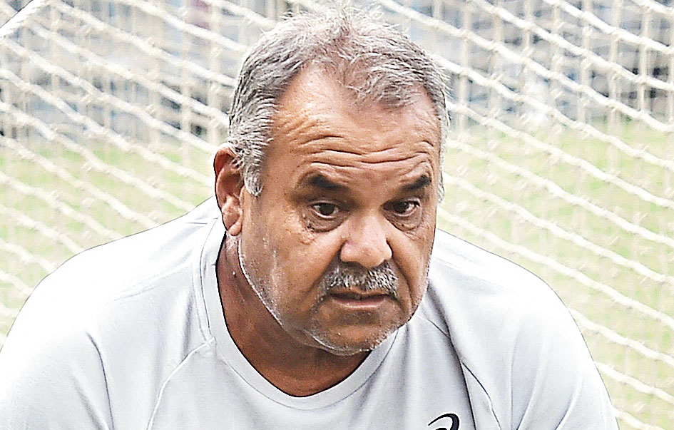 Dav Whatmore at the Eden on Saturday.