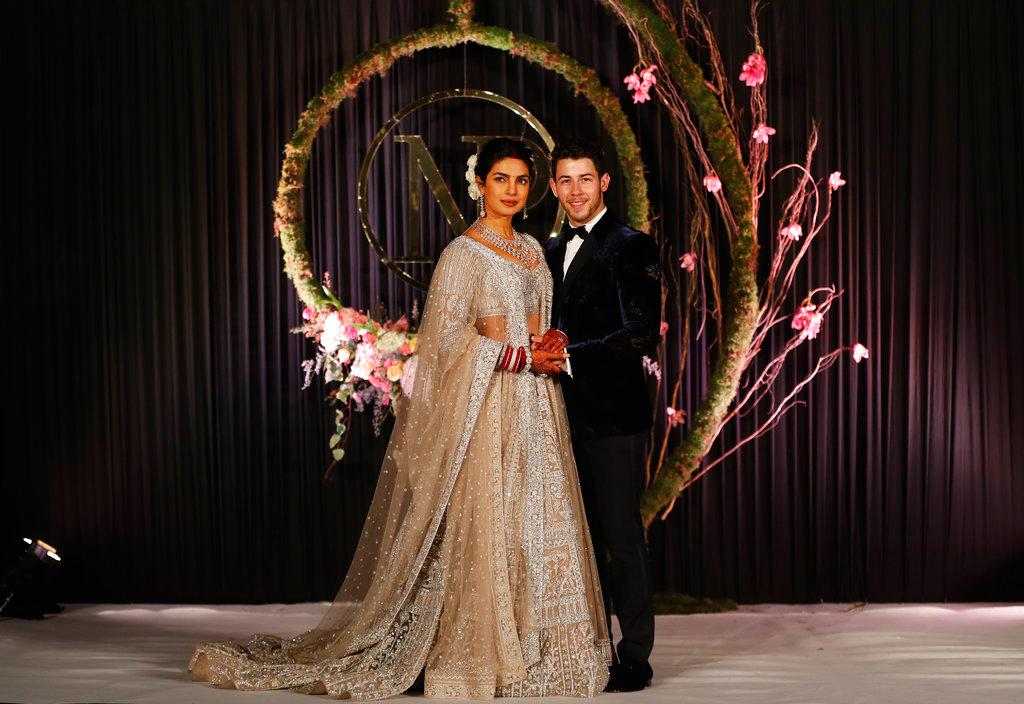 Priyanka Chopra and Nick Jonas at their wedding reception in New Delhi, on Tuesday, December 4, 2018